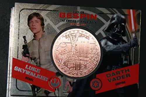 2015 Star Wars Chrome Perspectives Jedi vs. Sith Trading Cards Bronze Medallion Luke Skywalker vs. Darth Vader BESPIN Fight Poster Version