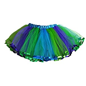 - 519sd4kyi6L - Little Fairy Tulle Tutu with Lace Trim 4 Layers
