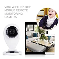 Cewaal (US Plug)Home Security Camera System, HD 1080P Wireless IP Camera Baby Monitoring P2P Card Machine, Day/Night Vision, Indoor/Outdoor Cam for House, Baby, Pet Security
