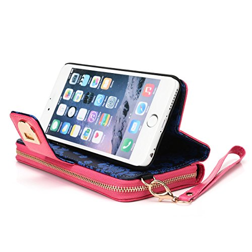Kroo Wallet Case for Apple iPhone 6 Plus/6s Plus - Frustration-Free Packaging - Magenta