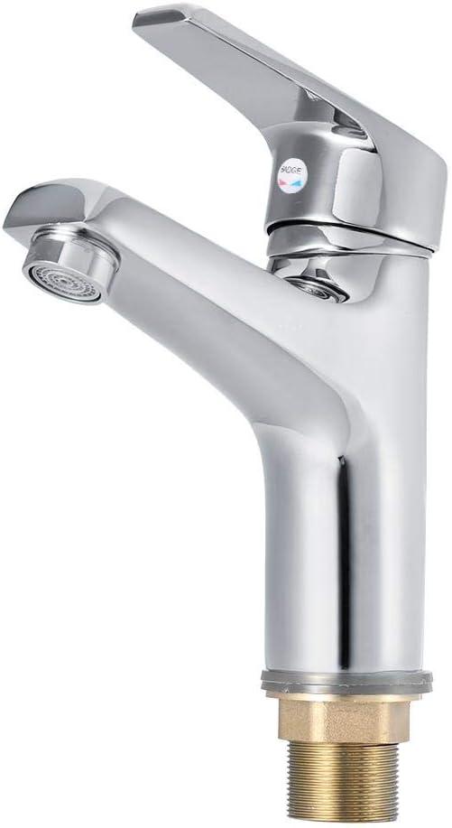 Mezclador de Lavabo, Grifo de latón Profesional Agua fría y Caliente Grifo de baño Filtro de purificador de Agua Grifo de baño Grifo de baño(Cromado): Amazon.es: Hogar