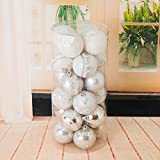 Christmas Balls,vmree 24Pcs(60mm) Christmas Tree Ball Bauble Ornaments Decorations Hanging Outdoor Home Decor (E)
