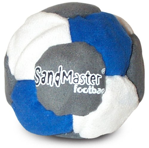 World Footbag SandMaster Hacky Sack Footbag, Grey/Blue/White 3816