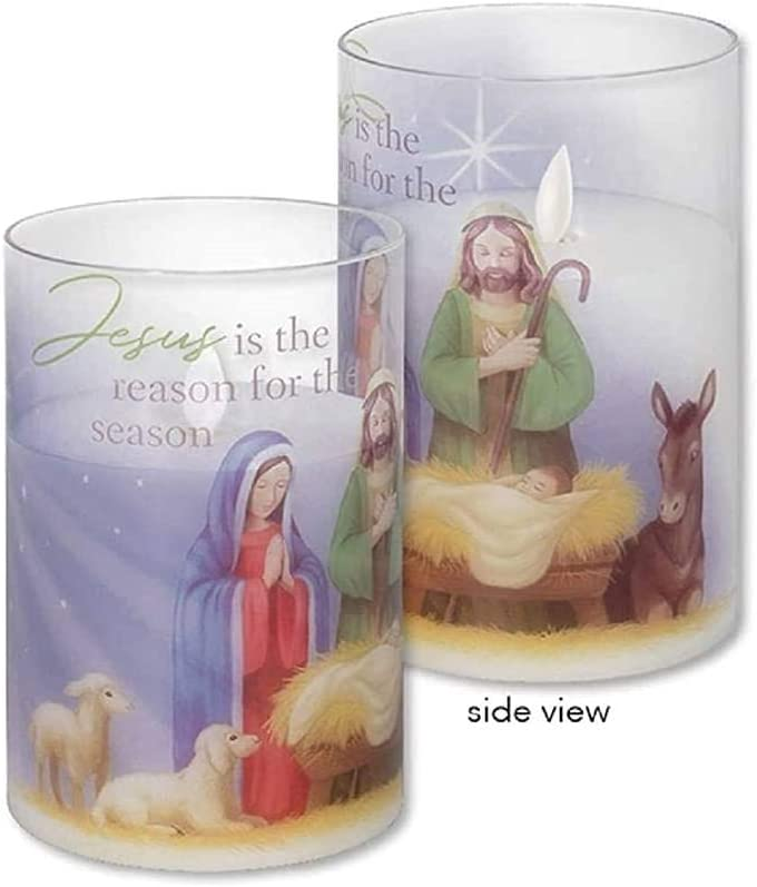 Carson Jesus is The Reason Glass Hurricane Candle