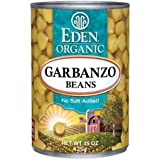 EDEN Garbanzo Beans (chick peas) Organic 15 Ounce (Pack of 6)