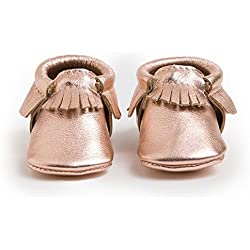 Freshly Picked Baby Girl's Soft Sole Moccasins