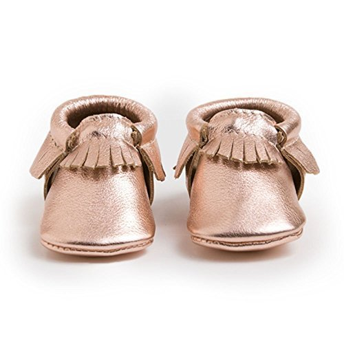 Freshly Picked Girls' Soft Sole Moccasins (Toddler), Rose Gold, 3 Infant M by Freshly Picked