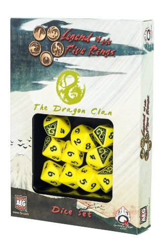 Q-Workshop QWOL5R58 L5R Dragon Clan Dice Set D10 Board Game (10 Stuck) by Q-Workshop by Q Workshop