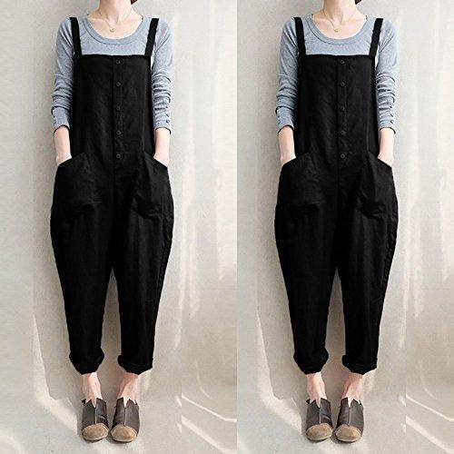 Salopette Jumpsuit Vintage avec Mode Chic Combinaisons Femme Bretelles 7rqaxwOZ7
