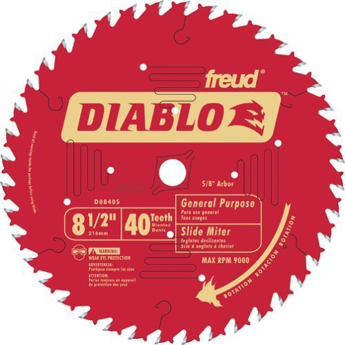 Freud D0840S Diablo 8-1/2-Inch 40 Tooth ATB Fine Finishing Miter Saw Blade with 5/8-Inch Arbor by Diablo