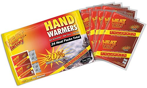 Hour Warm Pack Pocket Warmer (Heat Factory Premium Hand Warmers, 12 Pairs)