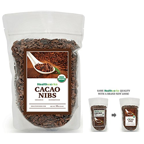 Healthworks Cacao Nibs Raw Organic, 1lb (Raw Cocoa)