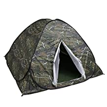 Ezyoutdoor 79x79x49 Portable Rainproof Digital Camouflage Tent for 2 Person Single Layer Outdoor Tents Camouflage for Camping Hiking