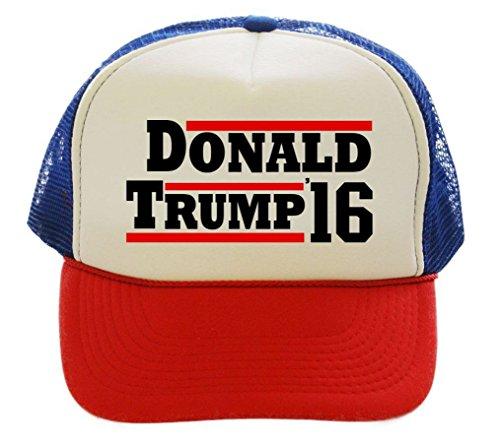 Donald Trump 2016 For President Trucker Cap Hat (Red/White/Blue)