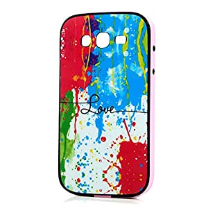 VCOER Samsung Galaxy Grand Neo i9060 / i9080 Funda Cáscara de Teléfono TPU Gel Silicona case y PC marco Patrón de la grafiti para Protectora al Móvil