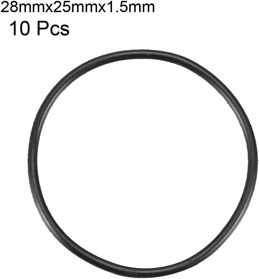 50 Stück Schwarz 10mm x 1mm Nitrilkautschuk O Ring NBR Dichtung Dichtungsringe