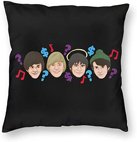 Amazon Com Coollemon The Monkees Music Band Throw Square Pillow For Sofa 26 X26 Home Kitchen