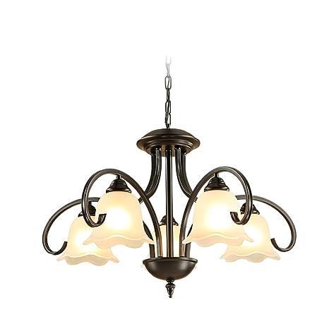 Lampadari classici cinque, retro lampadari in ferro-arte, luce ...