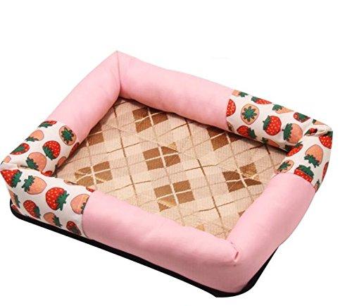 le migliori marche vendono a buon mercato Xinjiener Strawberry Summer Sleeping Mat Dog Nest Tappetino per per per animali rosa  godendo i tuoi acquisti