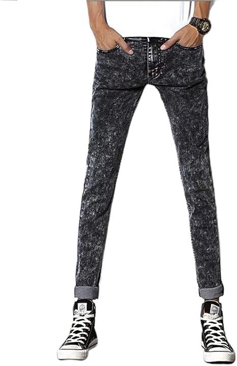 Studyset Pantalones Para Hombre Ajustados Elasticos Bonitos Informales A La Moda Jeans Jovenes Black Gray Jeans 28 Amazon Com Mx Hogar Y Cocina
