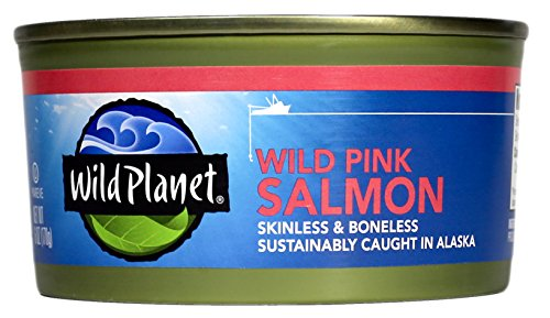 Wild Planet, Alaska Pink Salmon, Boneless & Skinless, 6 Ounce (Pack of 12)