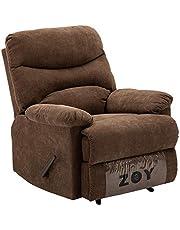 ZOY Fabric/Cotton/LVL/Plywood Recliner, R9149R-51 C550, Manla/Mocha, H99 x W99 x D84 cm