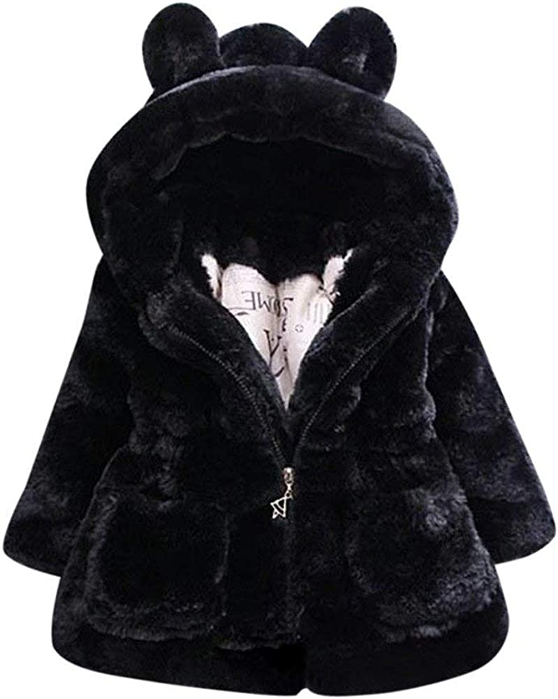 Multiple Colors kaiCran Clearance Sale Kids Toddler Girls Rabbit Cartoon Fleece Hooded Jacket Vest Coat