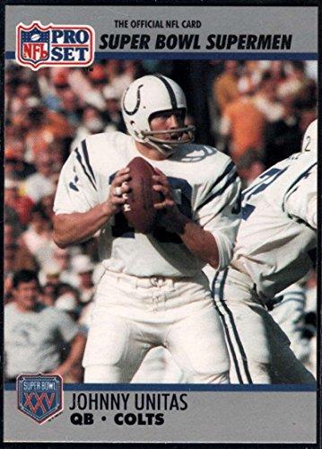 - Football NFL 1990-91 Pro Set Super Bowl 160 #134 Johnny Unitas NM-MT Colts