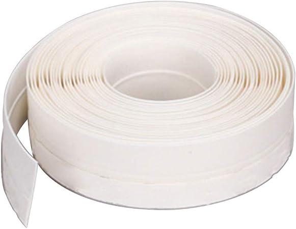 Tiras de sellado deslizantes de 45 mm para puerta burlete de burlete de puerta sin marco ventana puerta corredera sellos de goma de silicona 45 mm blanco: Amazon.es: Hogar