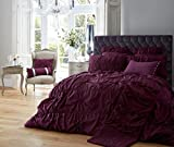 Luxury Duvet Cover Single Set With Pillow cases Printed Luxurious Bedding Poly Cotton Modern New Designer Style ( Alexandra Aubergine , Single ) by De Lavish