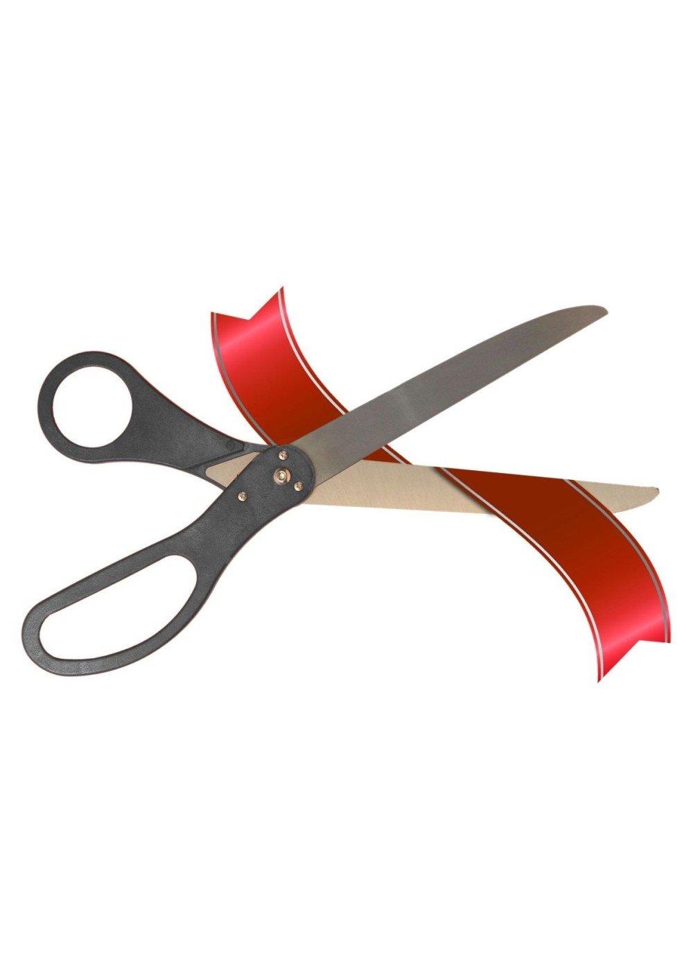 25 Inch Black Ribbon Cutting Scissors by Wonder Costumes