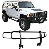 hummer grill - Guard Grille Fits 2003-2009 Hummer H3 H2 | H2T SUT SUV Front Black Guard Brush Grille Grill Double Bars by IKON MOTORSPORTS | 2004 2005 2006 2007 2008