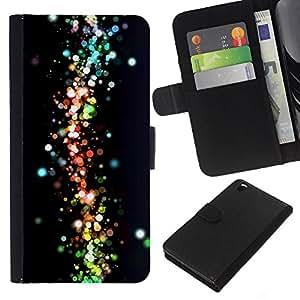 Stuss Case / Funda Carcasa PU de Cuero - Neon Dots Espacio Galaxy Colores - HTC DESIRE 816