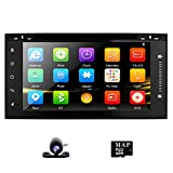 """Universal Car Radio with Camera DVD GPS Stereo for Toyota Corolla Camry Prado RAV4 Hilux VIOS 6.95"""" HD Touch Screen BT in Dash Navigation"""