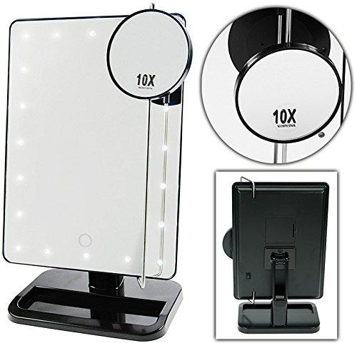 Gut gemocht Stellspiegel mit LED Beleuchtung, Kosmetex Tisch-Spiegel drehbar DU55