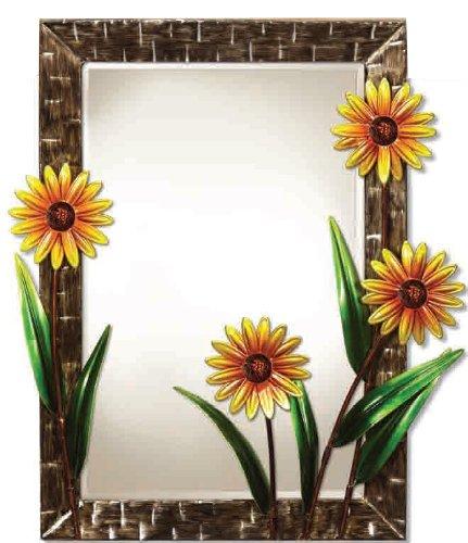 Deco Flair Metal Wall Mirror Daisies (Daisy Mirror)