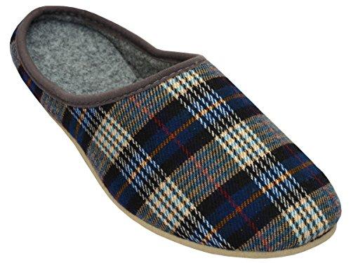 Bawal - Zapatillas de estar por casa de tela para hombre Azul azul