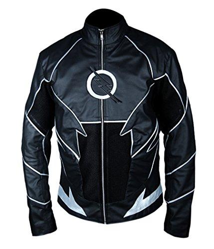 Zoom The Flash Costume (F&H Boy's Flash Teddy Sears Hunter Zoloman Zoom Jacket M Black)