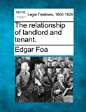 The relationship of landlord and Tenant, Edgar Foa, 1240085974