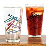 CafePress - Colorful Trombones Pint Glass - Pint Glass, 16 oz. Drinking Glass