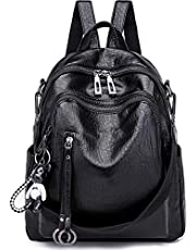 SYKT Backpack Purse for Women Fashion School PU Leather Purse and Hangbags Shoulder Bags