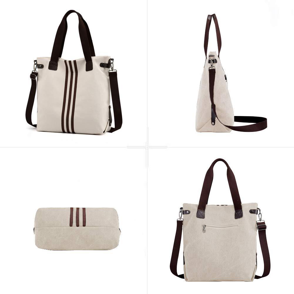23cb9f8a12f65 Schultertaschen EINWEG Nlyefa Canvas Handtasche Damen Umhägetasche Große  Schultertasche für Alltag Damenhandtaschen