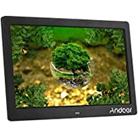 Andoer 10 HD LCD Digital Photo Picture Frame Wide Screen High Resolution 1024x600 Clock MP3 MP4 Video Player with Remote Control