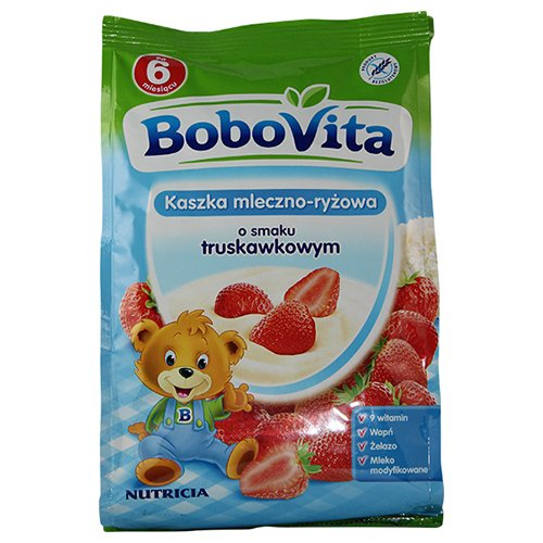 Bobovita Milk and Rice Gruel Strawberry for Babies (230g/8.1oz)