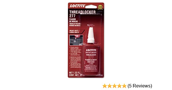 Amazon.com: Loctite 555353 277 Red Large Threads Threadlocker Bottle, 36-milliliter: Automotive