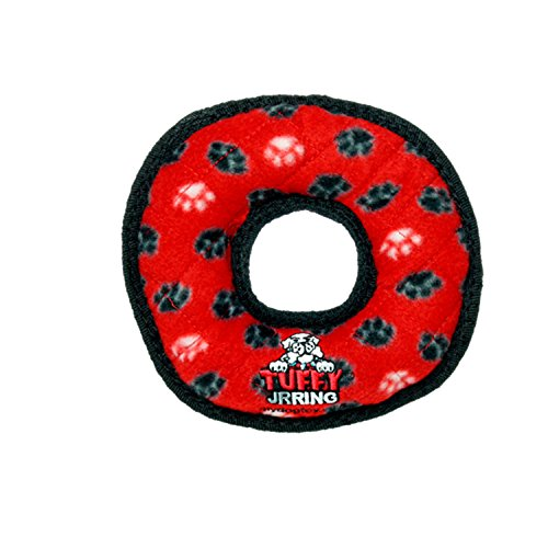 - TUFFY Ultimate Ring, Durable Dog Toy (Junior, Red Paw)