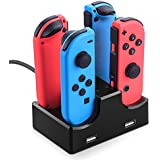 Pakesi Switch Pro Controller Dual Charger, Nintendo Switch Joy-Con Charging Dock Station Stand with LED Indicator