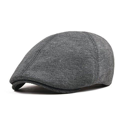 VOBOOM Men's Cotton Flat Ivy Gatsby Newsboy Driving Hat Cap (Style3-Dark (Cotton Walking Hat)