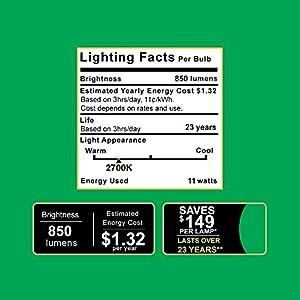 Sunco Lighting 6 PACK - BR30 LED 11WATT (65W Equivalent), 2700K Soft White, DIMMABLE, Indoor/Outdoor Lighting, 850 Lumens, Flood Light Bulb, UL & ENERGY STAR LISTED