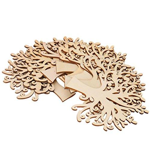 [Vibola 1Set (10pcs) DIY Wooden Heart in Heart Design Laser Rustic Wood Natural Cardmaking Scrapbooking Craft Wedding Table Decor wedding table crafts] (Mosaic Heart Ring)